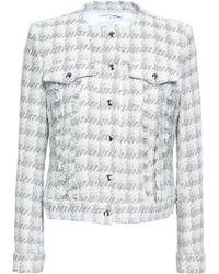 IRO - Quilombe Metallic Houndstooth Tweed Jacket White - Lyst
