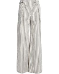 Zimmermann - Striped Crinkled Silk Wide-leg Trousers - Lyst