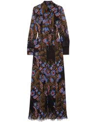 c68cf7bea942d9 Etro Embellished Printed Silk Crepe De Chine Maxi Dress in White - Lyst