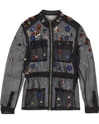Elie Tahari - Katya Embellished Silk-organza Jacket - Lyst