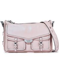 Rag   Bone - Woman Field Brushed-leather Shoulder Bag Pastel Pink - Lyst ff85c0de769f0