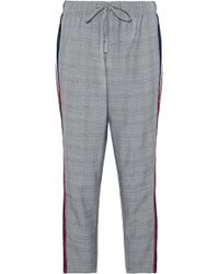 W118 by Walter Baker - Striped Voile-paneled Prince Of Wales Woven Tapered Pants - Lyst