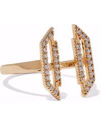 Astrid & Miyu - Fitzgerald Block 14-karat Gold-plated Crystal Ring - Lyst
