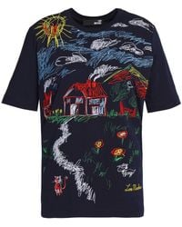 Love Moschino - Embroidered Cotton-jersey T-shirt - Lyst