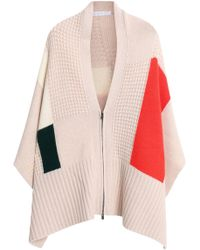 Duffy - Panelled Wool And Cashmere-blend Poncho - Lyst