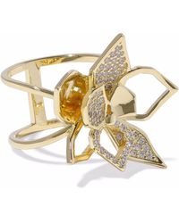 Noir Jewelry - Gold-tone Crystal Ring - Lyst