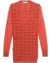Vionnet - Wrap-effect Jacquard-knit Mohair-blend Jumper - Lyst
