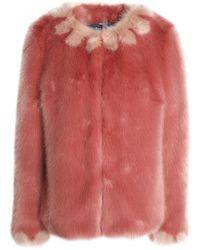 Shrimps - Woman Polly Faux Fur Coat Antique Rose - Lyst