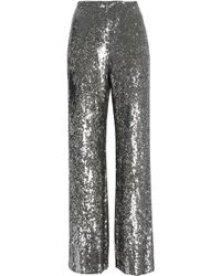 Alexis - Sequined Silk Wide-leg Trousers - Lyst