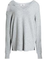 LNA - Cutout Mélange Stretch- Sweatshirt - Lyst