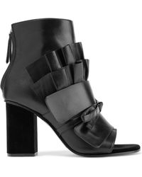 Emilio Pucci - Black Leather Ankle Boot - Lyst