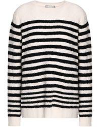 Vince - Striped Wool-blend Sweater - Lyst