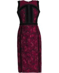 Altuzarra - Velvet-trimmed Brocade Dress - Lyst