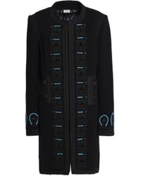 Talitha - Embroidered Wool-blend Felt Coat - Lyst