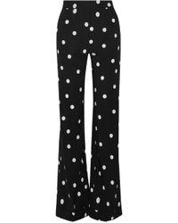 Monse - Polka-dot Silk-blend Wide-leg Trousers - Lyst