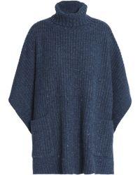Rebecca Minkoff - Ribbed-knit Poncho - Lyst