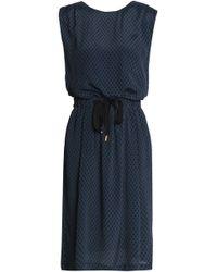 Day Birger et Mikkelsen - Woman Printed Twill Dress Storm Blue Size 36 - Lyst