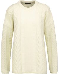 Belstaff - Woman Katriona Cable-knit Wool And Cashmere-blend Sweater Cream Size M - Lyst