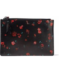 IRO - Floral-print Leather Pouch - Lyst