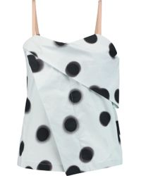 Marc By Marc Jacobs - Draped Printed Cotton Top - Lyst