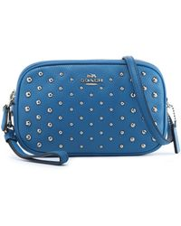 COACH - Studded Textured-leather Shoulder Bag - Lyst