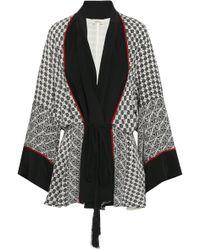 Talitha - Tasselled Printed Silk Crepe De Chine Kimono - Lyst