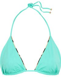 Roberto Cavalli Woman Leopard-print Trimmed Underwired Bikini Top Jade Size 48 Roberto Cavalli Free Shipping Outlet Online Cheap Authentic Cheap Visit New DrSWQOG