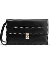 Valentino Studded Leather Clutch Black