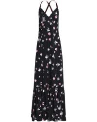 Marc Jacobs - Lace-trimmed Printed Taffeta Maxi Dress - Lyst
