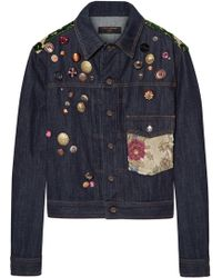 Dolce & Gabbana - Appliquéd Denim Jacket - Lyst