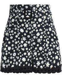 Nicholas - Crochet-trimmed Floral-print Silk Shorts - Lyst