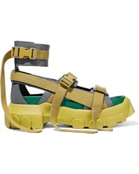 e9ed337bd825 Rick Owens - Woman Hiking Spartan Leather Platform Sandals Sage Green - Lyst