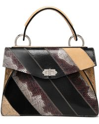 Proenza Schouler - Hava Suede, Leather And Ayers Shoulder Bag Light Brown - Lyst
