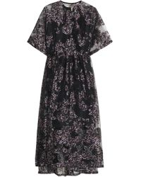 Mother Of Pearl - Gathered Floral-print Organza Midi Dress - Lyst
