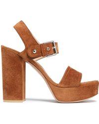 Gianvito Rossi - Suede Platform Sandals - Lyst