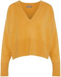 N.Peal Cashmere - Cropped Mélange Cashmere Sweater - Lyst