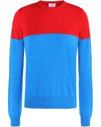 Stella Jean - Two-tone Stretch-knit Top - Lyst