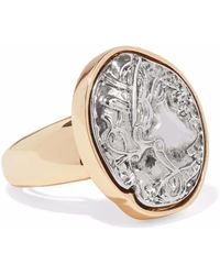 Kenneth Jay Lane - Embossed Silver-tone And Gold-tone Ring - Lyst
