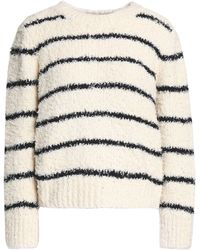 Vince - Striped Cotton-blend Bouclé Sweater - Lyst