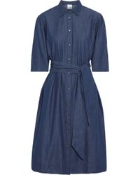 Iris & Ink - Rosie Belted Cotton-chambray Shirt Dress - Lyst
