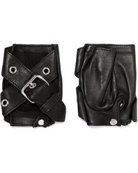 Causse Gantier - Buckled Leather Fingerless Gloves - Lyst