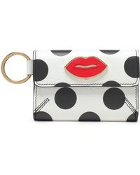 Charlotte Olympia - Woman Appliquéd Printed Leather Key Wallet White Size -- - Lyst