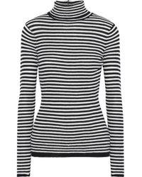 Soft Joie - Zelene Striped Knitted Turtleneck Top - Lyst