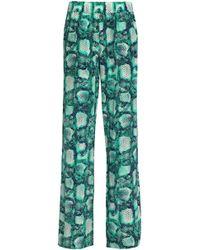 ViX - Printed Silk Wide-leg Trousers - Lyst