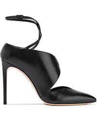 Casadei - Vittoriale Cutout Leather Court Shoes - Lyst