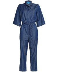 M.i.h Jeans - Montara Cropped Cotton-blend Chambray Jumpsuit - Lyst