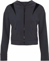 Cushnie et Ochs - Cropped Mesh-paneled Cutout Shell Hooded Jacket - Lyst