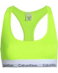 Calvin Klein - Modern Cotton Racerback Bright Flash Bralette - Lyst