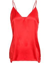 Anine Bing - Woman Silk-satin Camisole Red - Lyst