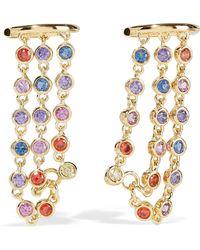 Noir Jewelry - 14-karat Gold-plated Crystal Ear Cuff - Lyst